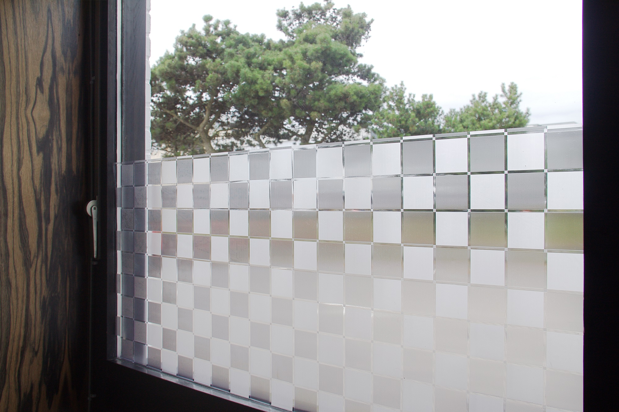 Statische Fensterfolie Sichtschutz Sonnenschutz Selbstklebend 60