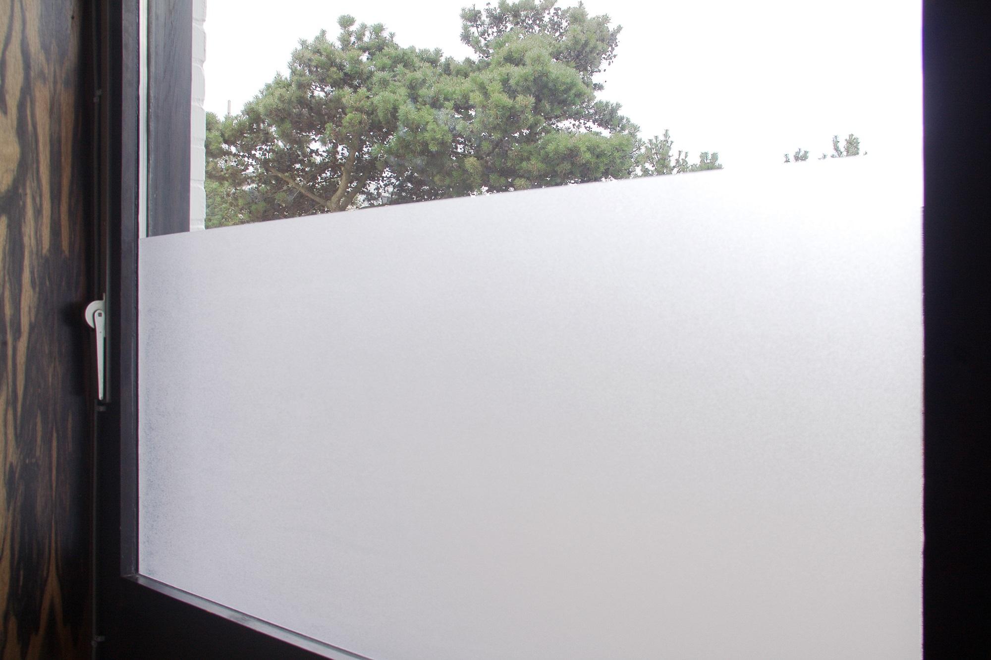 Statische fensterfolie 45cm bis 90cm breit sichtschutz milchglas selbstklebend ebay - Statische fensterfolie anbringen ...